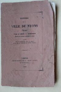 notice sur Nyons abbé Vincent